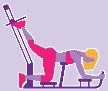 Workout illustration clip-art image woman