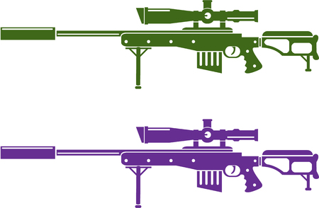 Sniper rifle illustration clip-art image