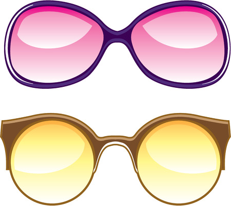 Fashion lenses  illustration clip-art image