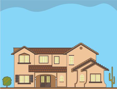 Desert house  illustration clip-art image