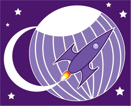Rocket science illustration clip-art image