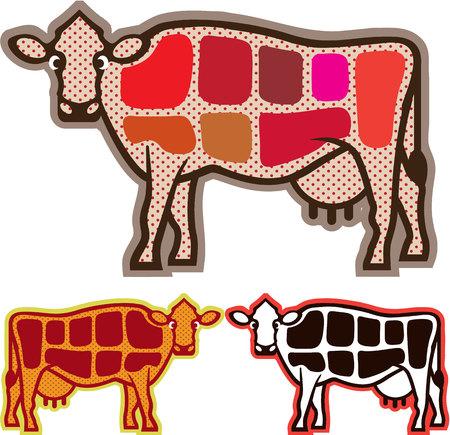 쇠고기는 일러스트 클립 아트 이미지를 잘라냅니다 스톡 콘텐츠