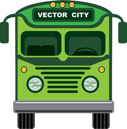 Vintage bus illustration clip-art image