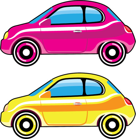 Tiny Tiny Small Car mini vehicle stylized clip-art