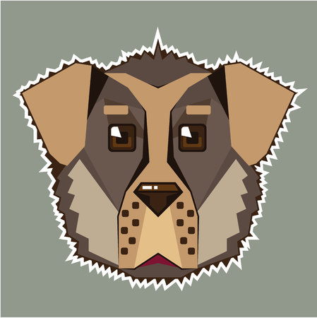 Dog  icon illustration clip-art image