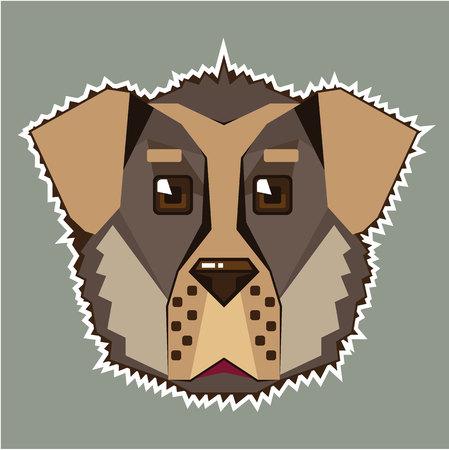 Dog  icon illustration clip-art image