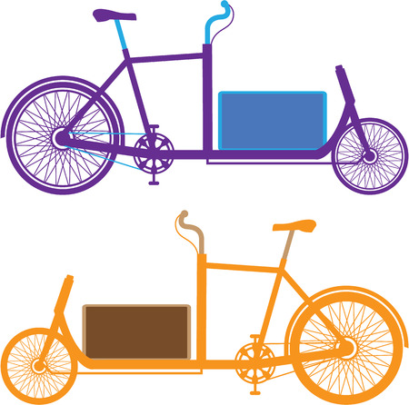 Bicycle box illustration clip-art image file Stock Photo