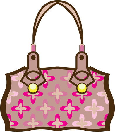 Flower Purse illustration clip-art image Фото со стока