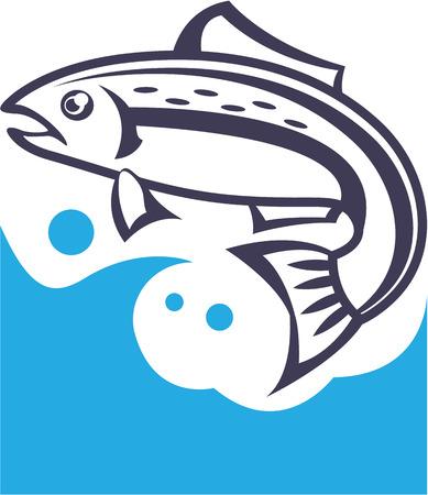 Fish logo design illustration clip-art image