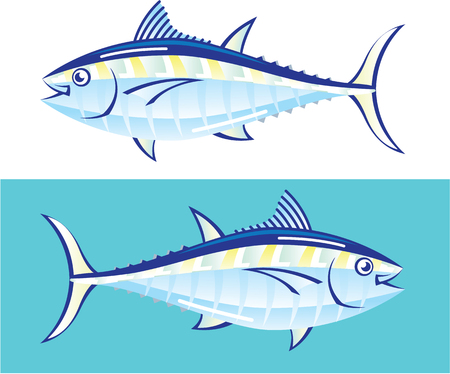 Yellow fin Tuna stylized illustration clip-art