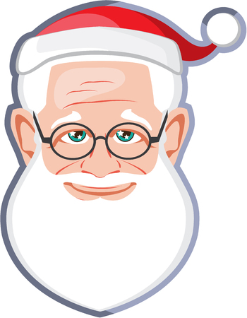 Santa Claus Cute Face illustration clip-art image Фото со стока