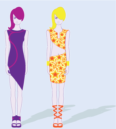 Skinny model illustration clip-art image file Stock Photo