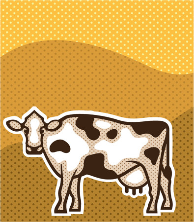 Cow Pop Art illustration clip-art image