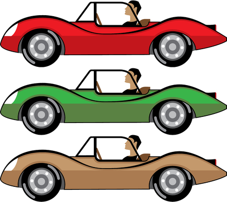 Vintage Roadster illustration clip-art image file