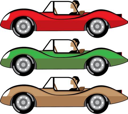 Vintage Roadster illustration clip-art image file