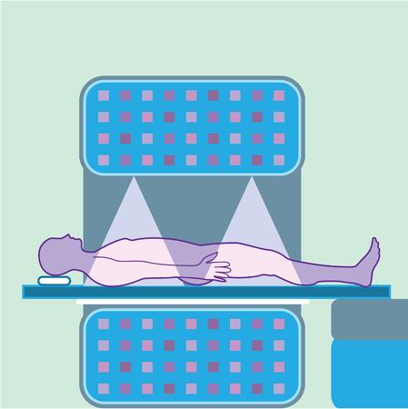 MRI machine illustration clip-art image