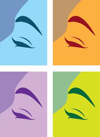 Loving eye illustration clip-art image