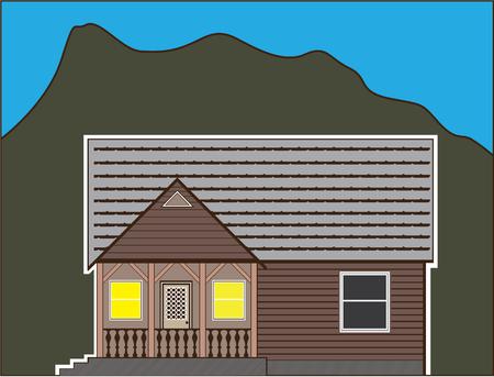 North house  illustration clip-art image file