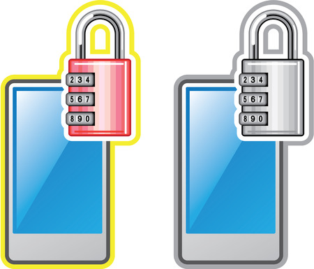 Phone Lock illustration clip-art image