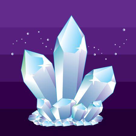 mineral crystals vector illustration
