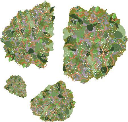 boccioli di marijuana illustrazione vettoriale immagine clip-art