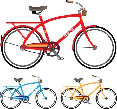 Cruiser Strand Fahrrad Vektor