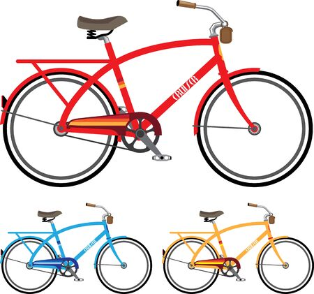 cruiser beach bicycle vector