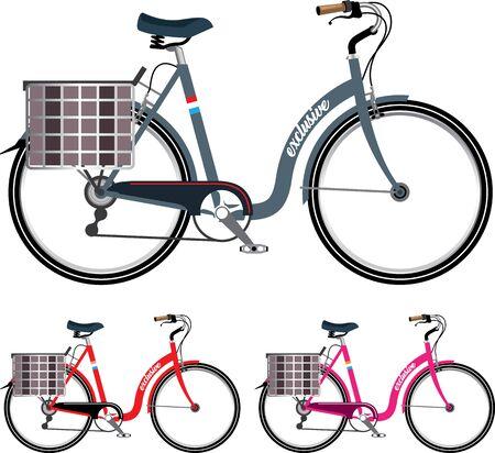step-thru bicycle vector illustration clip-art image Illustration
