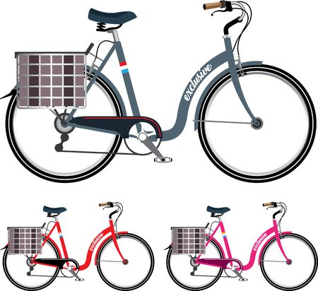 step-thru bicycle vector illustration clip-art image Illustration