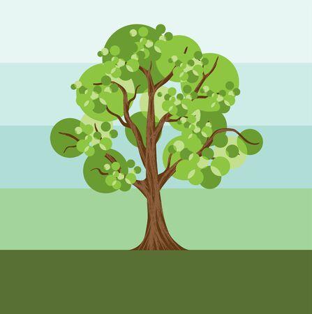 beautiful tree vector illustration