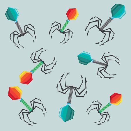 viruses color illustration 일러스트