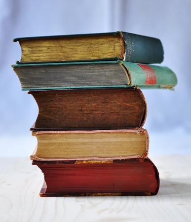 antique books: Multi-colored antique books