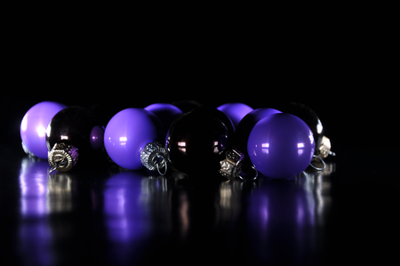 Colored Christmas baubles Stock Photo