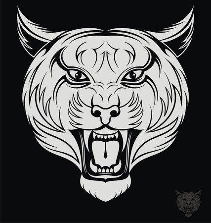 tribalism: Angry Tiger Head