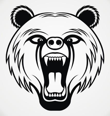 tribalism: Angry Bear Head Tribal