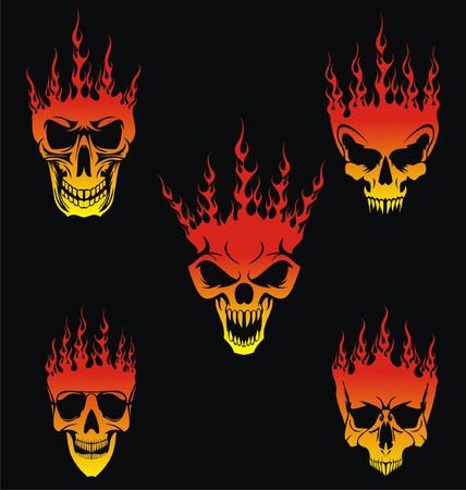 burning: 5 Burning Skulls