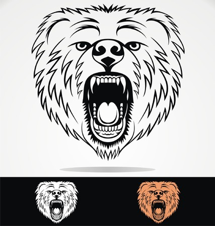 tribalism: Angry Bear Face Tribal
