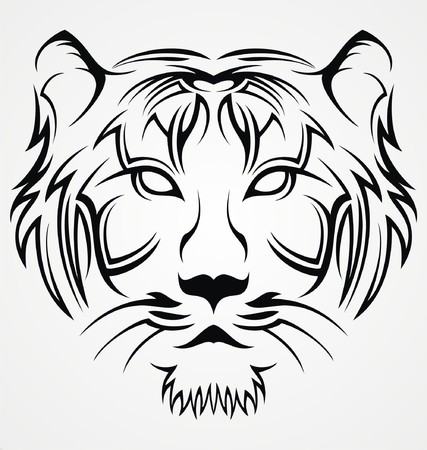 body painting: Tiger Face Tattoo Design