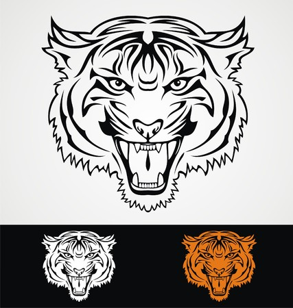 tribalism: Tiger Head