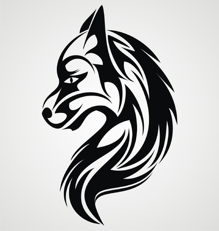tribalism: Wolf Tattoo Design