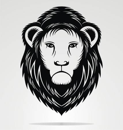 tribalism: Lion Head Mascot Illustration