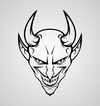 tribalism: Devil Head Tattoo Design