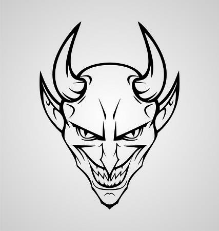tatouage ange: Diable Head Design Tattoo