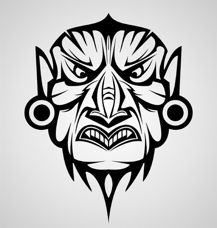 tribalism: Mask Tribal Tattoo Design