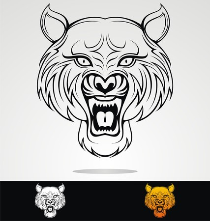 tribalism: Angry Tiger Head Tribal