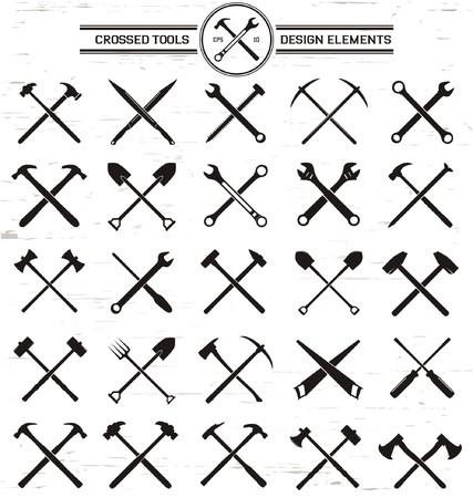 hardwork: Crossed Tools Design Elements