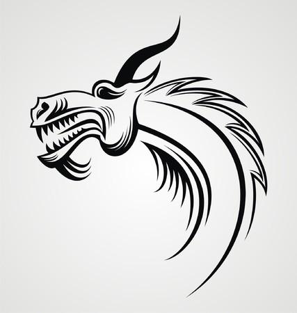 tribalism: Dragon Head Tattoo Design