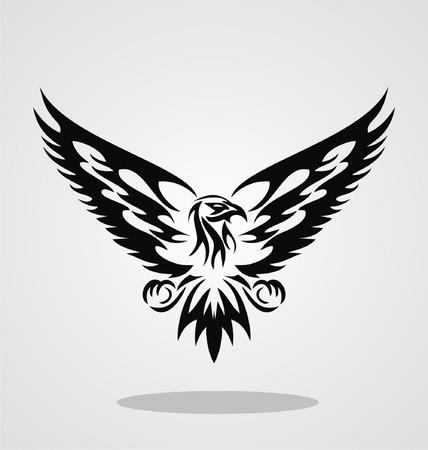 halcones: Aguila tribal para el diseño del tatuaje