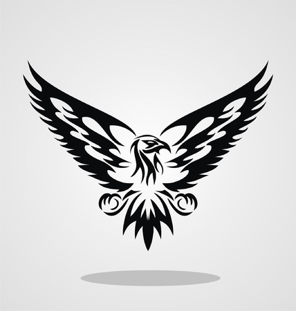 hawks: Eagle Tribal For Tattoo Design