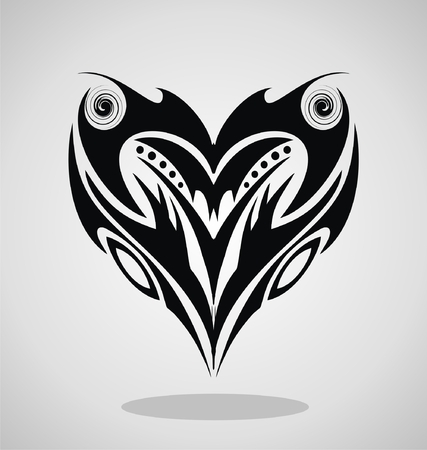 tribalism: Heart Tattoo Design
